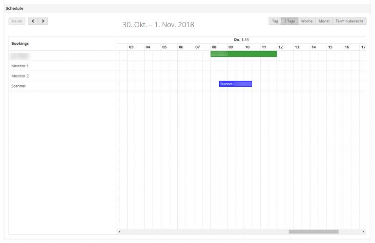 AppGini integrated resource scheduler